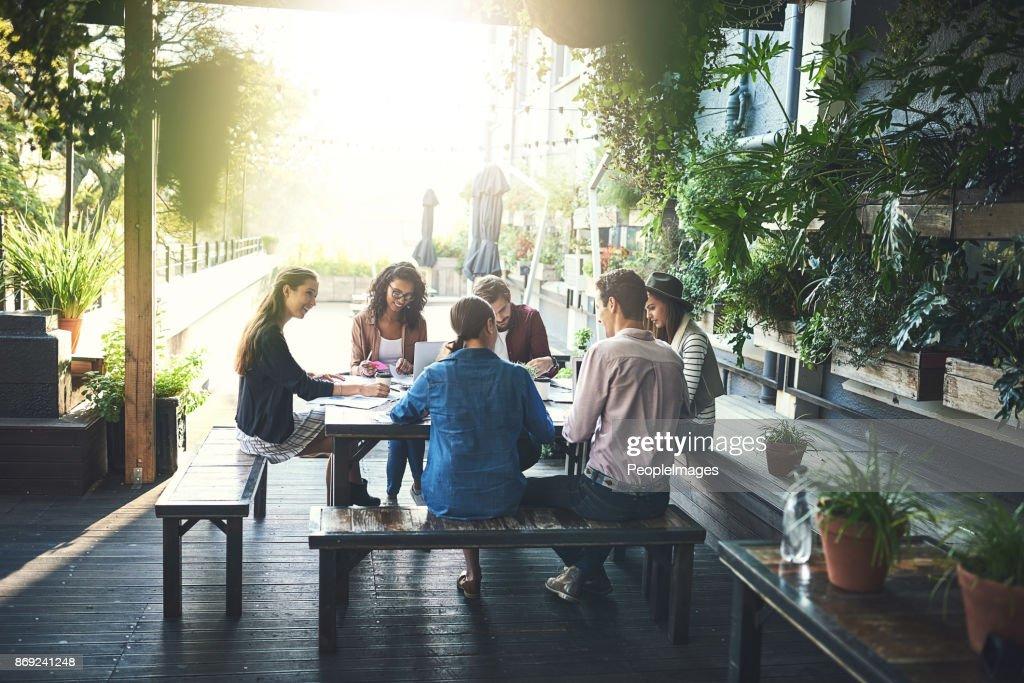 Cambie el espacio de trabajo : Foto de stock