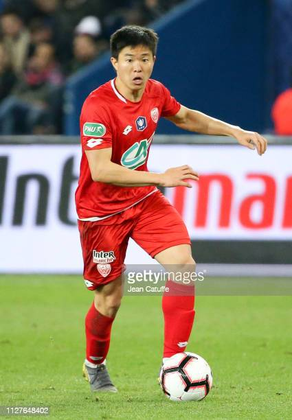 Chang-hun Kwon of Dijon during the French Cup quarter-final match between Paris Saint-Germain and Dijon Football Cote-d'Or at Parc des Princes...