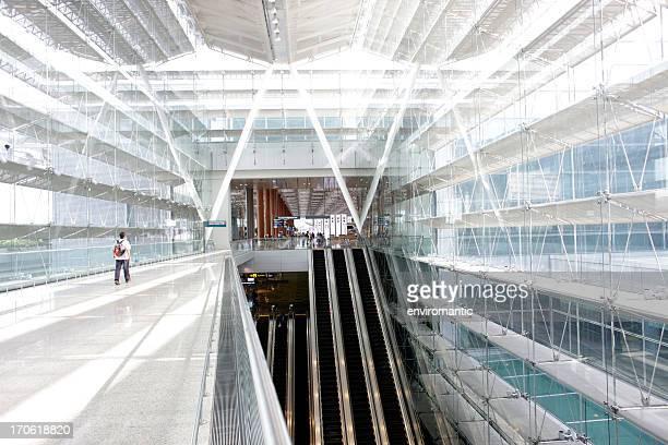 aeropuerto de changi, singapur, la terminal 3. - ancho fotografías e imágenes de stock