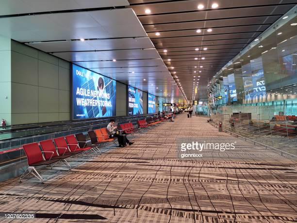 シンガポールチャンギ空港ターミナル - チャンギ空港 ストックフォトと画像
