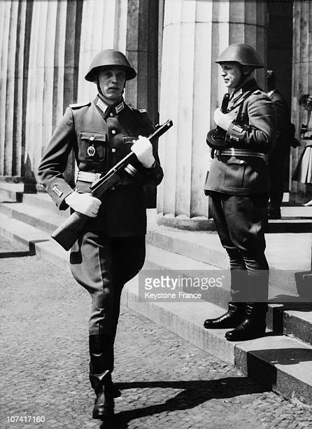 Changing Of The Guard At Fascism And Victims War Monument In BerlinEast GermanyEurope On May 10Th 1960