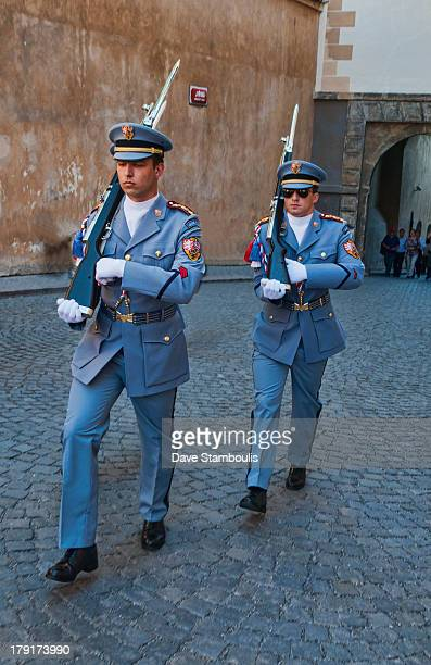 CONTENT] changing of the guard at Prague Castle in Prague Czech Republic