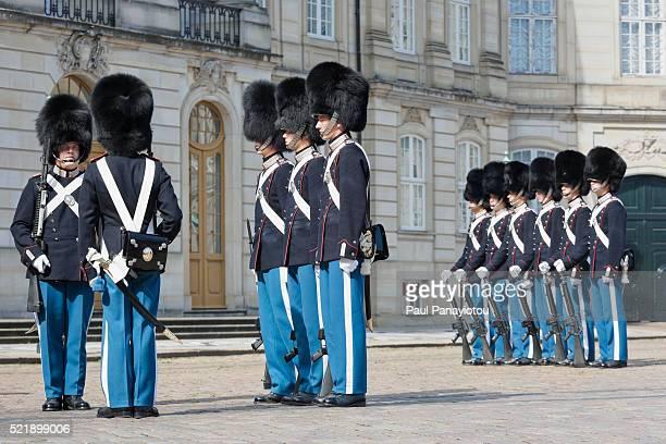 Changing of the Guard ceremony at Amalienborg Palace, Copenhagen, Denmark
