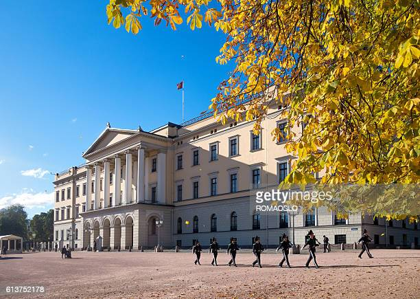 Changing of the guard, The Royal palace, Oslo Norway