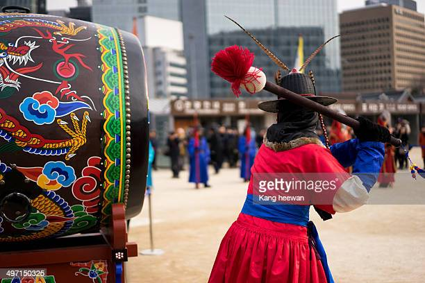 CONTENT] Changing of the Guards at Gyeongbokgung Palace