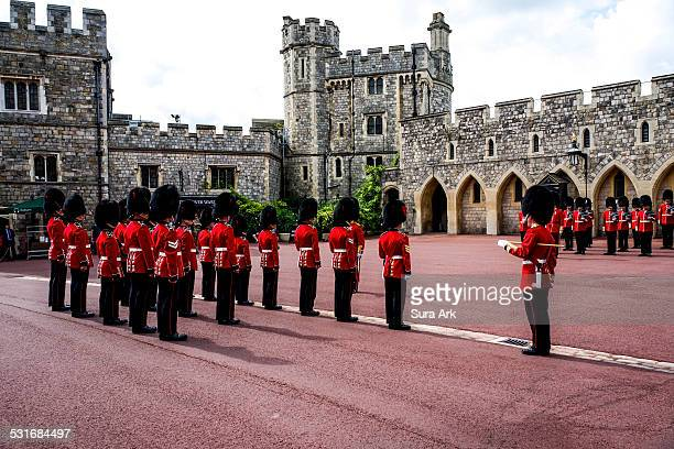 Changing of the guards at Windsor Castle Berkshire England