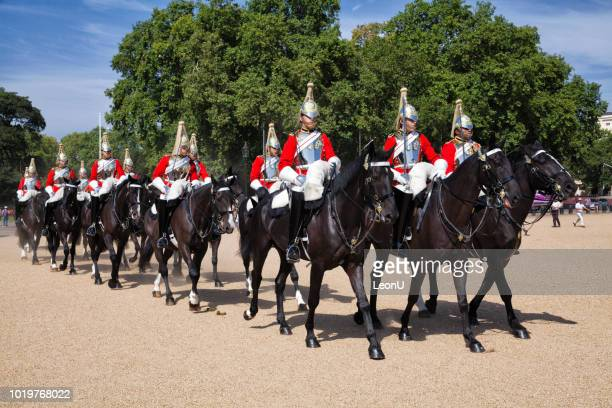 changing of the horse guards, london, england, uk - horse guards parade stock pictures, royalty-free photos & images