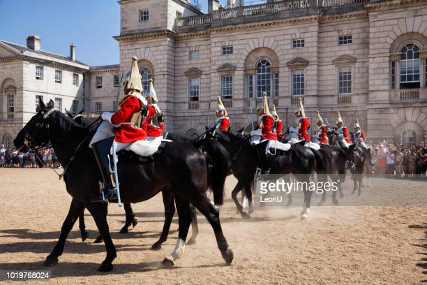 changing of the horse guards, london, england, uk - guardsman stock pictures, royalty-free photos & images