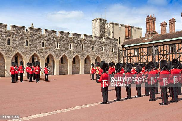 Changing the Guard at Windsor Castle, Berkshire, England.