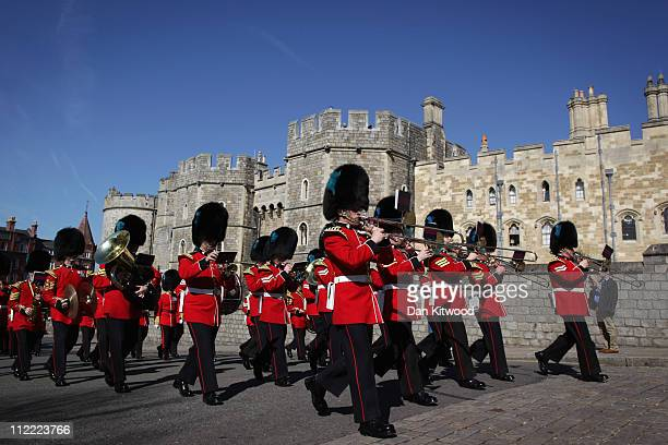 Changing the Guard takes place at Windsor Castle on April 7 2011 in Windsor England