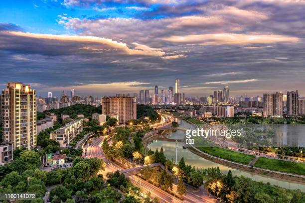 changsha skyline - changsha stock pictures, royalty-free photos & images
