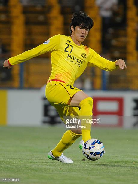 Changsoo Kim of Kashiwa Reysol in action during the AFC Champions League Round of 16 match between Kashiwa Reysol and Suwon Samsung FC at Hitachi...