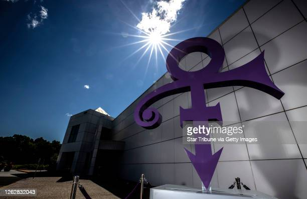 Chanhassen, MN July 30: A new statue of Prince's Love Symbol was unveiled outside Paisley Park.