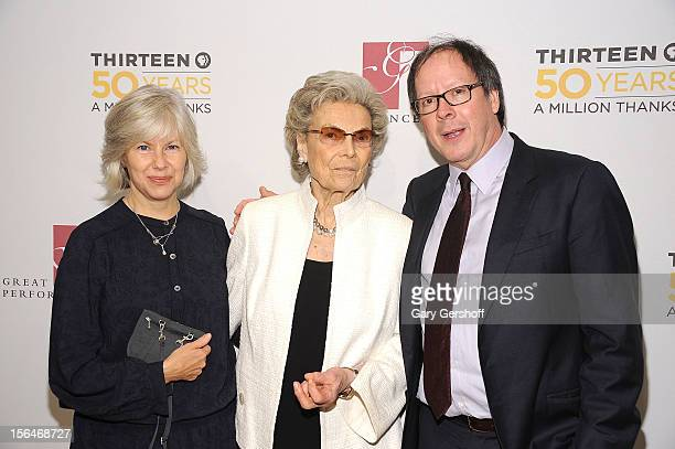 Channel 13/WNET Board Member Rosalind P Walter and documentary filmmaker Ric Burns and Bonnie Lafave attend the THIRTEEN 50th Anniversary Gala Salute...