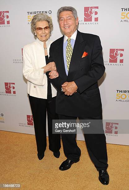 Channel 13/WNET Board Member Rosalind P Walter and producer Jac Venza attend the THIRTEEN 50th Anniversary Gala Salute at the David H Koch Theater...