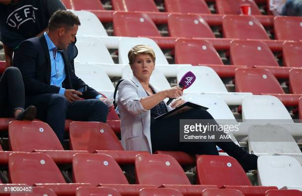 Channel 4 television presenter Clare Balding in the stands during the UEFA Women's Euro 2017 match between England and Scotland at Stadion...