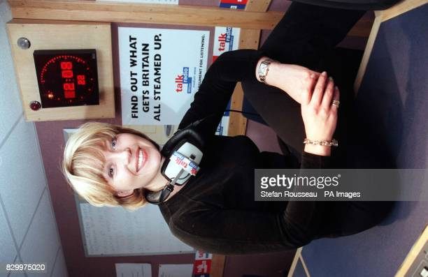 Channel 5 evening news presenter Kirsty Young at Talk Radio in London today where it was announced that she is to host its weekday breakfast show Ms...