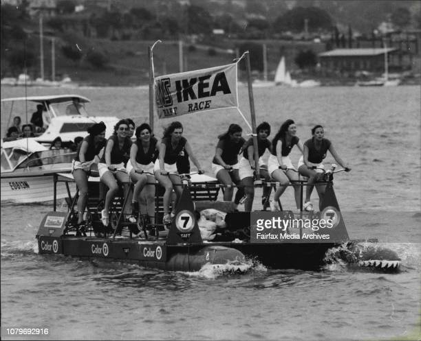 Channel 7 all girl crew in actionThe Third Annual 2WS Ikea Raft Race from Gasworks Bridge Parramatta to Birkanhead Point which was won by Hercules...