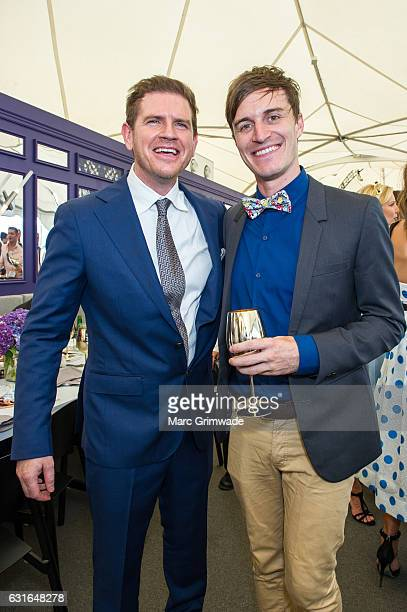 Channel 7 and Sunrise weather presenter Sam Mack and former Triple J radio presenter Alex Dyson attend Magic Millions Raceday on January 14 2017 in...