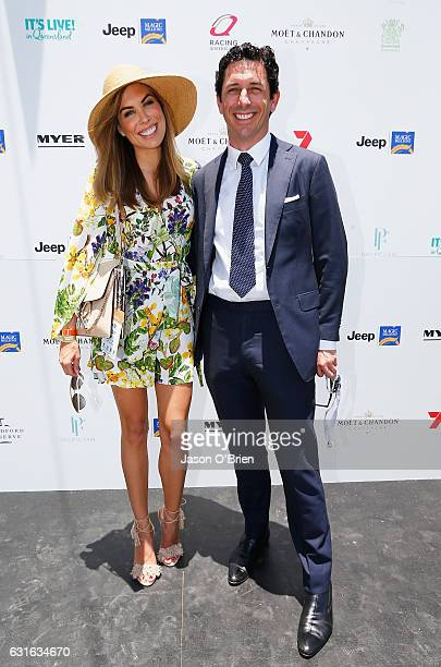Channel 7 boss Ryan Stokes and wife Claire attend Magic Millions Raceday on January 14 2017 in Gold Coast Australia