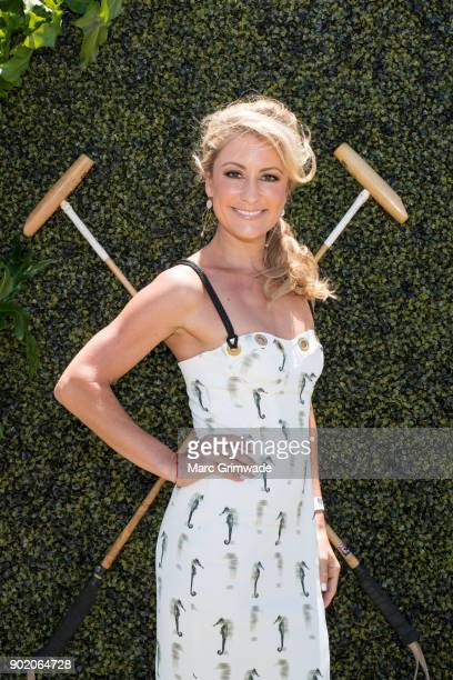 Channel 7 identity Liz Cantor attends Magic Millions Polo on January 7 2018 in Gold Coast Australia