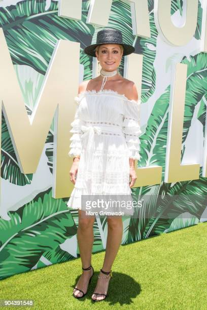 Channel 7 identity Liz Cantor attends Magic Millions Raceday on January 13 2018 in Gold Coast Australia