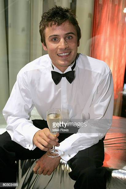 Channel 7 TV Presenter and nominee James' Jesse' Tobin attends a cocktail party for the announcement of the `2008 Cleo Bachelor of the Year' at...