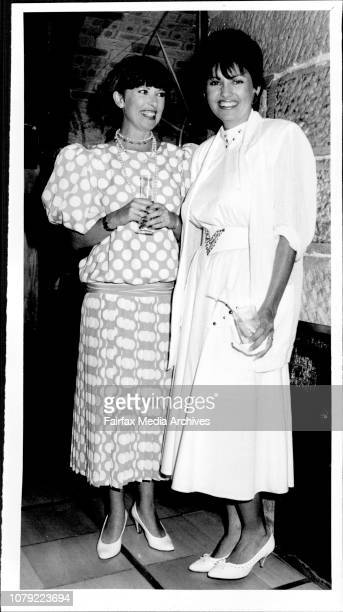 Channel 9 New Season Launch at Rogues Darlinghurst Jacquie McDonald and Karen Pini January 29 1986
