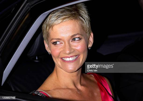 Channel 9 presenter Jessica Rowe during Nicole Kidman's Wedding Arrivals June 25 2006 at St Patrick's Estate in Sydney Australia