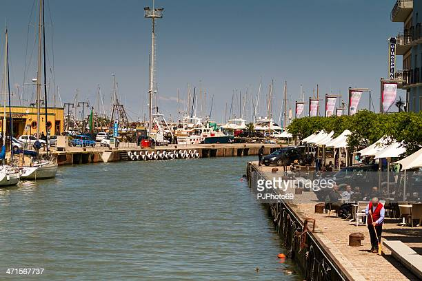 Channel at port of Gabicce Mare (Italy)