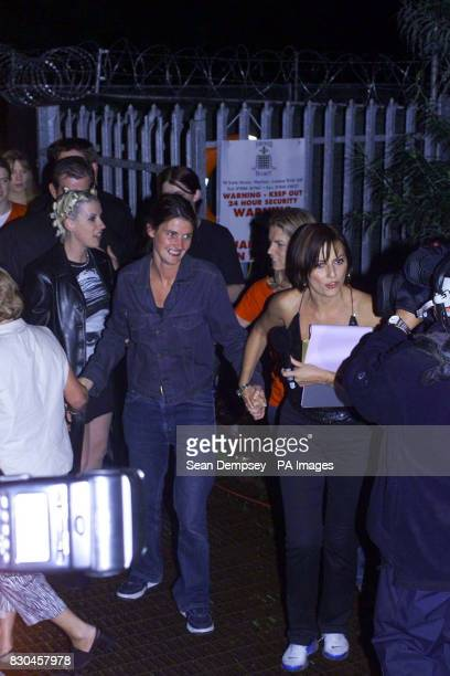 Channel Four Big Brother contestant Anna Nolan after she left the Big Brother House in East London with presenter Davina McCall when Craig Phillips...