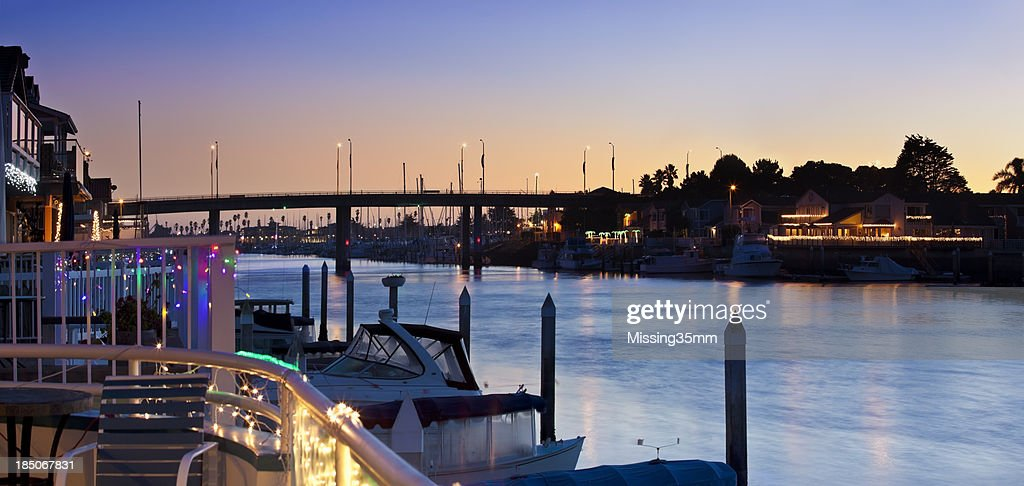 Channel Islands Harbor at Dusk : Stock Photo
