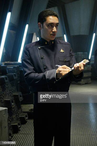 Channel 'Kobol's Last Gleaming Part 1 2' Episode 12 13 Aired 1/17/05 01/24/05 Pictured Alessandro Juliani as Lt Felix Gaeta