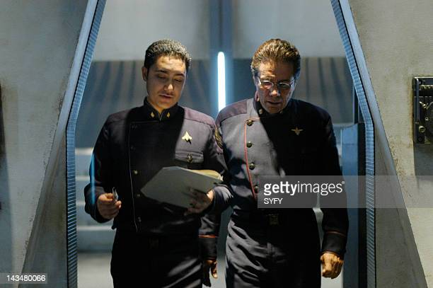 Channel 'Kobol's Last Gleaming Part 1 2' Episode 12 13 Aired 1/17/05 01/24/05 Pictured Alessandro Juliani as Lt Felix Gaeta Edward James Olmos as...