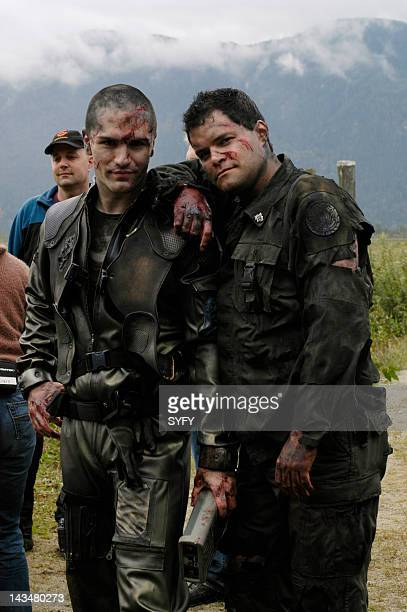 Channel 'Kobol's Last Gleaming Part 1 2' Episode 12 13 Aired 1/17/05 01/24/05 Pictured Samuel Witwer as Crashdown Aaron Douglas as Cheif Galen Tyrol