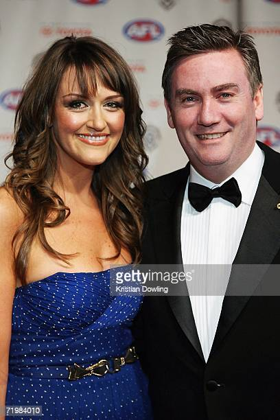 Channel Nine CEO and Collingwood Magpies President Eddie McGuire and his wife Carla McGuire arrive for the 2006 AFL Brownlow Medal Dinner at Crown...