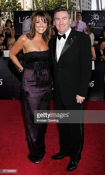 Channel Nine CEO Eddie McGuire and his wife Carla arrive at the L'Oreal Paris 2006 AFI Awards at the Melbourne Exhibition Centre on December 7 2006...