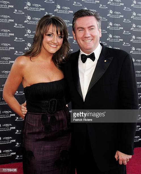 Channel Nine CEO Eddie McGuire and his wife Carla arrives at the L'Oreal Paris 2006 AFI Awards at the Melbourne Exhibition Centre on December 7 2006...