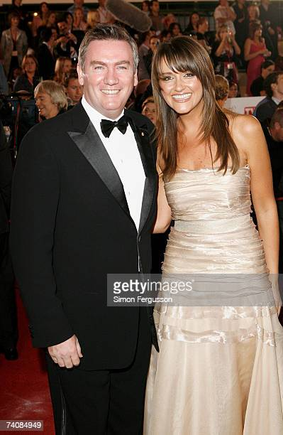 Channel Nine CEO Eddie McGuire and wife Carla arrives at the 2007 TV Week Logie Awards at the Crown Casino on May 6 2007 in Melbourne Australia The...