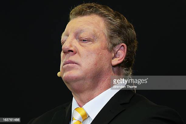 Channel Nine commentator, Phil Gould looks on prior to the round two NRL match between the St George Dragons and the Brisbane Broncos at WIN Stadium...