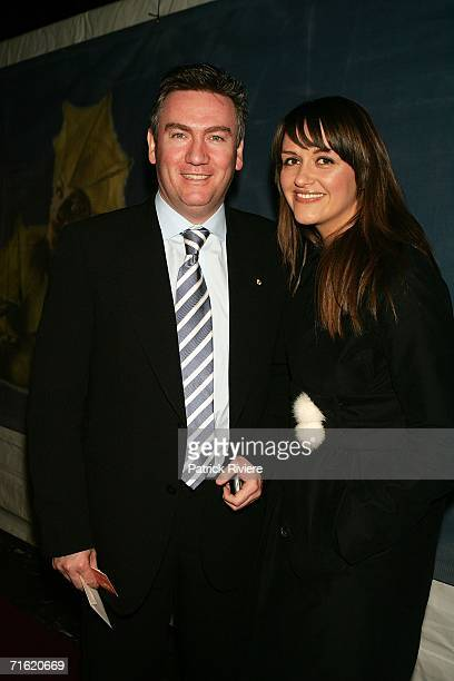 Channel nine excutive Eddie McGuire and his wife Carla attend the Cirque Du Soleil's 'Varekai' premiere in Sydney at the Showring in the...