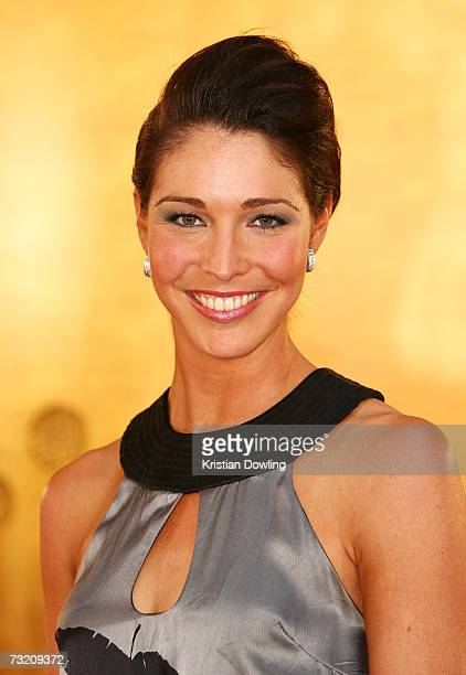 Channel Nine TV Personality and former champion swimmer Giaan Rooney arrives at the 2007 Allan Border Medal at Crown Casino on February 5 2007 in...