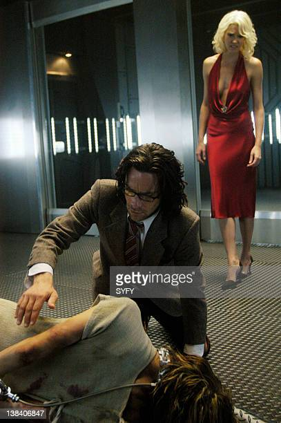 Channel Pegasus Episode 10 Air Date Pictured James Callis as Doctor Gaius Baltar Tricia Helfer as Number Six