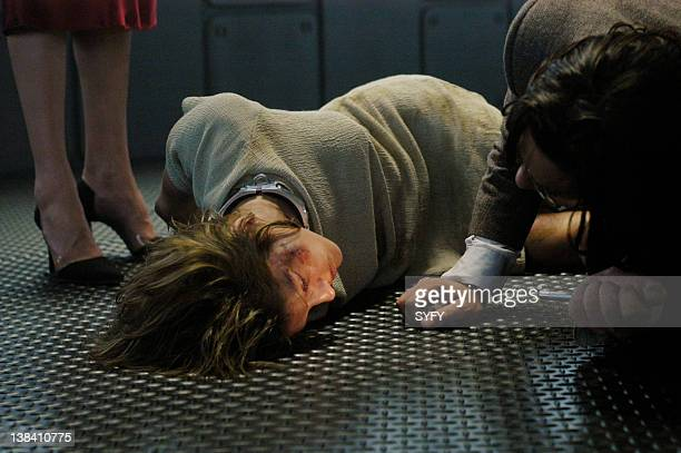 Channel Pegasus Episode 10 Air Date Pictured Tricia Helfer body double as Gina James Callis as Doctor Gaius Baltar