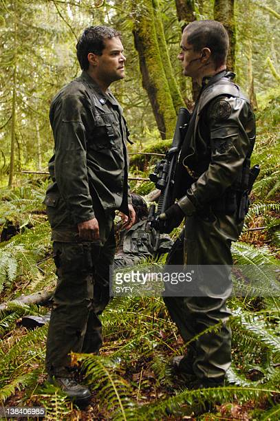 Channel 'Scattered' and 'Valley of Darkness' Episode 1 2 Air Dates and Pictured Aaron Douglas as Cheif Galen Tyrol Samuel Witwer as Alex 'Crashdown'...