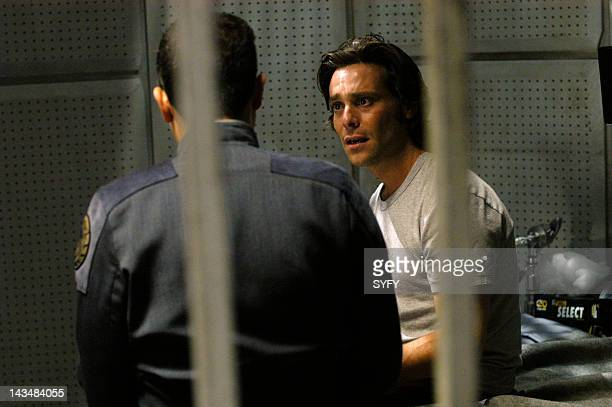 Channel 'Six Degrees of Separation' Episode 7 Aired 11/29/04 Pictured Alessandro Juliani as Lt Felix Gaeta James Callis as Dr Gaius Baltar