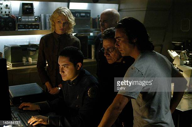 Channel 'Six Degrees of Separation' Episode 7 Aired 11/29/04 Pictured Tricia Helfer as Number Six Alessandro Juliani as Lt Felix Gaeta Edward James...