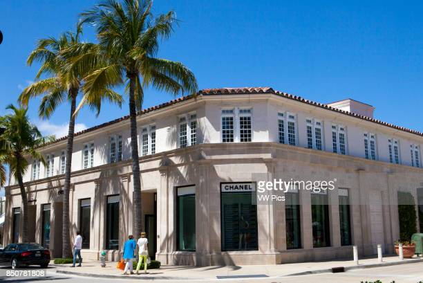 Channel store Worth Avenue in Palm Beach is one of the premier upscale shopping streets in the world Distinguishing Worth Avenue are smaller...