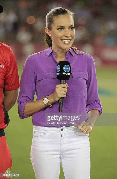 Roz kelly stock photos and pictures getty images channel ten presenter roz kelly speaks to camera during the big bash league match between the sciox Gallery