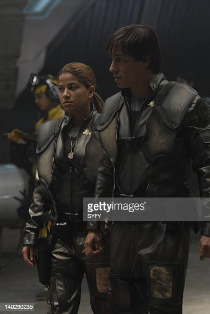 Channel 'Torn' Episode 6 Air Date Pictured Luciana Carro as Captain Louanne 'Kat' Katraine Bodie Olmos as Lieutenant Brendan 'Hot Dog' Costanza Photo...